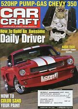 Car Craft Magazine August 2001 Chevy 350 / How To Color Sand Your Paint