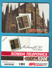 SCHEDA TELEFONICA NUOVA MILANOFIL  C&C 2662 GOLDEN 603  SCADENZA 30.06.99
