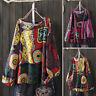 ZANZEA Femme T-shirt imprimé Belle 100% coton Manche Longue Ample Haut Tops Plus