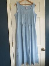 The Paragon Women's Large Blue Sleeveless neat Pleat Maxi Dress  NEW