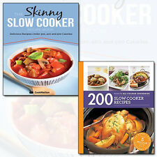Skinny Slow Cooker Recipes 2 Books Collection Set 200 Slow Cooker Recipes NEW UK