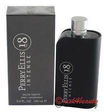 Perry Ellis 18 Intense 3.4oz/100ml Edt Spray For Men New In Box