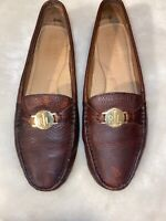 Ralph Lauren Brandy Leather Carley Driving Moccasins Loafers Womens Shoes Sz 9B