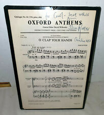 John Rutter 1983 Oh Clap Your Hands SIGNED sheet music Omaha Concert JSA Cert