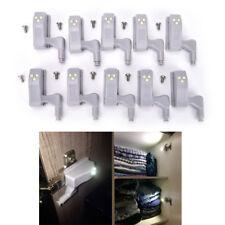 10Stück Küche Zimmer Schrank Scharnier Schrank Indoor LED Licht Sensor System@BG