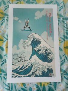 Signed Stone Cold Steve Austin Big Wave 11x17 Print  Beckett