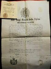 7973-PASSAPORTO, REGNO 2 SICILIE-FRANCESCO II, MONTORIO DIMORANTE IN TERAMO,1860