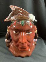 Rare Vtg Pontiac Native American Indian Cookie Jar by McCoy,Orginal 1954