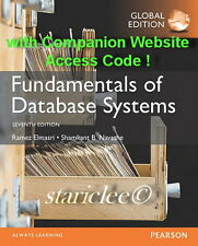 NEW 3 Days to AUS Fundamentals of Database Systems 7E Ramez Elmasri 7th Edition