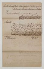 India 1853 Legal Document Insolvent Etc Folded Document English Text #Ip-232