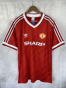 Manchester United Man Utd 1986 1988 Home Shirt Sharp Large XL Repro Retro Shirt