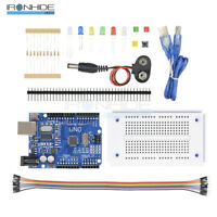 UNO R3 Starter Kit Compatible Microcontroller ATMEGA328P Breadboard For Arduino