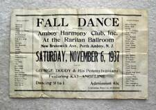 1937 Vintage Dance Flyer ~ Perth Amboy, NJ