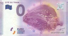 BILLET 0€ SOUVENIR TOURISTIQUE, N° rond 3200, CITE DU TRAIN, 2015