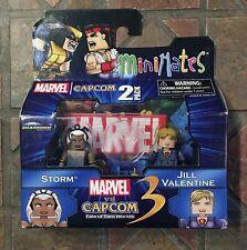 Marvel vs Capcom Minimates STORM & JILL VALENTINE Series 2 X-Men Resident Evil