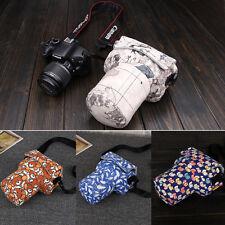 Small DSLR Camera Pouch Padded Shoulder Bag Case For Canon 760D 77D Nikon D5300