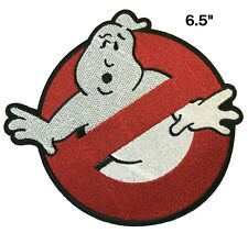 "6.5"" GHOSTBUSTERS GHOST Movie Logo BUSTERS IRON-ON Embroidered Applique Patch"