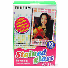 10 Fuji Instax Mini 8 Film Stained Glass Fujifilm Mini 90 /50s Instax Share SP-1