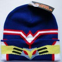 My Hero Academia Allmight Cartoon Beanie Knit Cuffed Hat Nwt