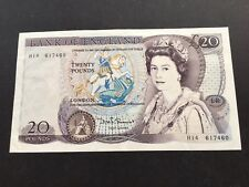 Great Britain - 1981-84 20 Pounds Sig.D.H.F Somerset - Queen Elizabeth II SCARCE