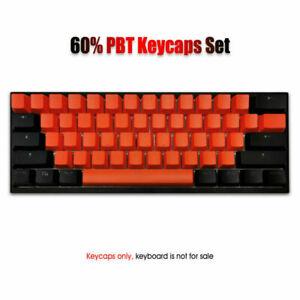61 PBT Double shot Keycaps Set OEM Shine Through Backlit Fit Mechanical Keyboard