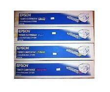 4 Original Toner Epson Aculaser c3000 c3000n/s050213 s050212 s050211 s050210