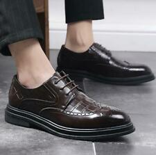 Brogue Mens Dress Formal Leather Shoes Business Work Office Oxfords Carved Party