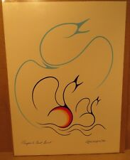 Prayers to Great Spirit Original 1989 Acrylic Painting by Clemence Wescoupe