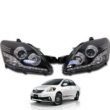 Fits 07-12 Toyota Vios Yaris Sedan Belta Sedan Projector Led Head Lamp light