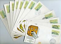 Bund FDC ATM 1 mit verschiedenen Postämtern
