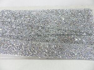 1 yd Self Adhesive Rhinestone Diamante Trim Wedding Bridal Applique 3cm Crystal