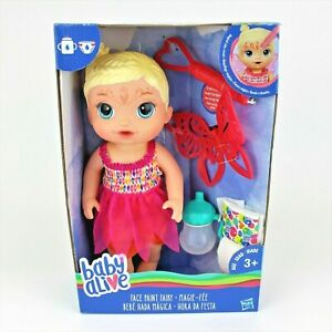 Baby Alive Face Paint Fairy Baby doll Blonde Brand New Hasbro