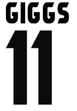 Manchester United Giggs Nameset Shirt Soccer Number Letter Heat Football Away