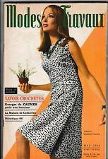 Modes et travaux N°785 mai 1966  page poupées tricot crochet mode vintage