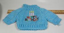 Blue Happy Birthday Doll Sweater