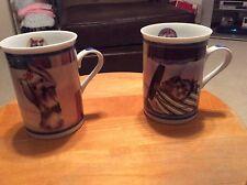 The Dansury Mint Elegant Yorkies Porcelin Colletor Mugs