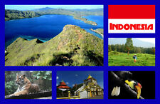 INDONESIA - RECUERDO ORIGINAL Imán de NEVERA - MONUMENTOS/Ciudades -REGALOS-