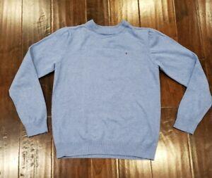 TOMMY HILFIGER Boys sz Large Light Blue 100% Cotton Sweater