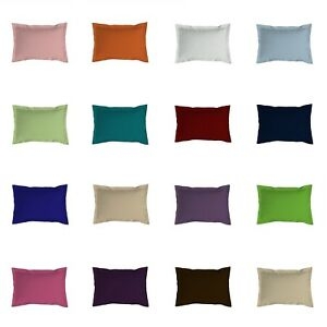 2 x Oxford Pillow Case Cases Plain Dyed Poly Cotton Pair Pack Free P&P UK