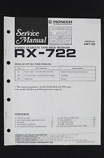 Pioneer rx-722 Original stéréo platine cassette Récepteur manuel de service /