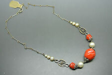 Vintage French art deco 50s Louis Rousselet red glasses Necklace