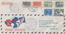 Poststuk (157) 1952 - Openings Vlucht KLM Nederland-Mexico