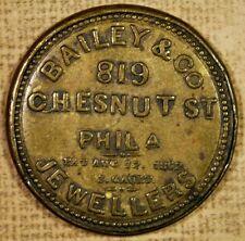 Bailey & Co Jewelers - Philadelphia - One Cent Encased Postage - RARE!!!