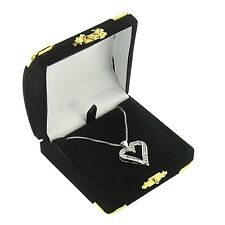 Black Velvet Pendant Box Display Jewelry Gift Box Treasure Chest Velour 1 Dozen