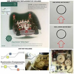 DEPARTMENT 56 HOLIDAY SINGERS -REPLACEMENT PART - BELTS KIT