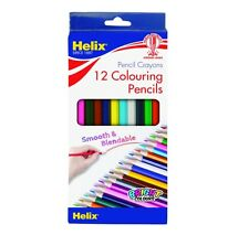 Colouring Pencils - 12 Assorted Helix Colouring Pencils - Assorted Colours