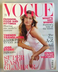 Vogue Magazine April 2005 Cover Gisele Bundchen by Patrick Demarchelier (C1024)