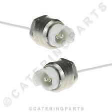COPPIA Lampada titolari riscaldata display fine Push Fit Connettore R7S PER LAMPADE 118 120 mm