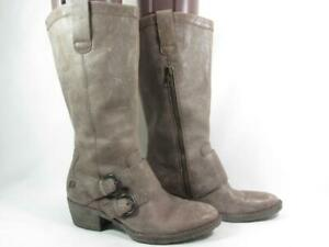 Born Magda Mid Calf Boot Women size 7 Brown Leather