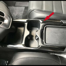Fit Honda CRV 2017-18 Interior Front Console Cup Holder Penal Cover Trim BlK